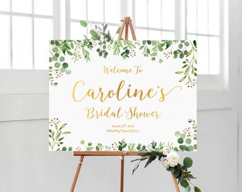 RUSH SERVICE, Bridal Shower sign, Greenery Bridal Shower Sign, Bridal shower banner, Bridal Shower Welcome Sign, Bridal Shower decorations