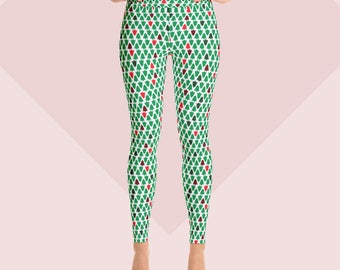Holiday Pants - Christmas Tree Print - Yoga Leggings