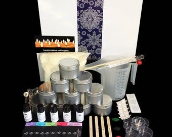 Xmas Soy Candle Making Kit- Everything you need! Great Gift Idea