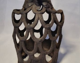 Vintage Cast Iron Eagle Lantern Candle Holder
