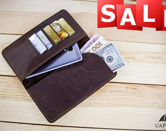 mens leather wallet, minimalist wallet, mens wallet, leather, mens gift, Gift idea for her, Phone wallet, Travel wallet, Womens wallet, gift