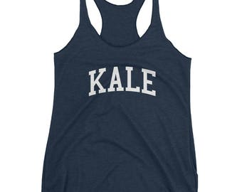 Kale - Women's Racerback Tank - Triblend, Food, Vegetable, Workout, Funny, Gym, Yale, Spoof
