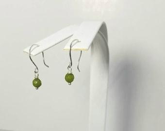 Peridot Earrings Sterling Silver, Peridot Dangle Earrings, Green Peridot Earrings, Peridot Silver Earrings, August Birthstone Earrings