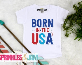 4th of July Shirt, Born In The USA, Kids 4th of July Shirt, Patriotic Shirt, Free to be Cool, Kids Patriotic