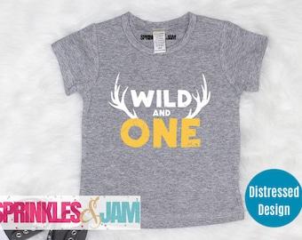 Wild One Birthday Boy, Wild 1 Birthday, 1st Birthday Shirt Boy, Wild and One, First Birthday Shirt Boy
