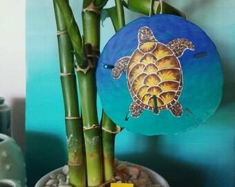 Sea Turtle Sand Dollar Ornament