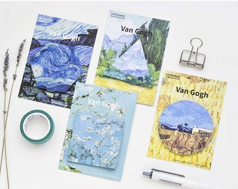 Van Gogh Paints Sticky Notes, Memo Pads, Notepads, Kawaii note