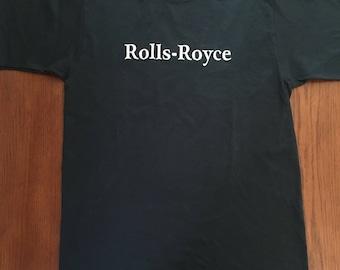 Rolls-Royce Men's T-shirt, Size Medium, 100% Cotton, NOS