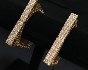 Bangles - Indian Jewelry - Bangle Cuffs - Bridal Bangles - Pakistani Jewelry - Bollywood Bangles - Temple Jewellery - Polki Jewelry - Desi