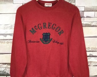 Vintage Mc Gregor Big Logo Spell Out Embroidered sweater  size Small S  / Mc Gregor sweatshirt / Mc Gregor hoodie