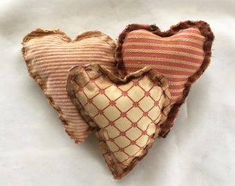 Primitive Hearts - Bowl Fillers - Primitive Valentine Decor - Primitive Valentine Hearts - Primitive Valentines Day Decor