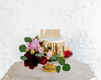LOVE Two Layer Cake Topper