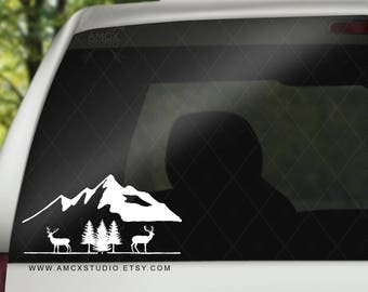 Mountains Outdoor Vinyl Decal Sticker for Car Windows,  Laptop,  Tumblers, Books, and more!