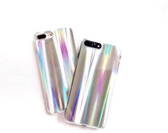 holographic phone case, holo, iPhone 6, 6 plus, 7 , 7 plus, reflective, chrome, rainbow, shiny, pearlized, iridescent, multicolor, unicorn