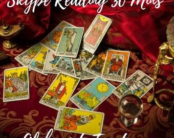 Skype Tarot Reading 30 Mins, Life, Love, Career, Insight & Guidance by Tarot Reader of 27 years experience