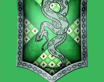 Harry Potter Flag | Slytherin Portrait | 3x5 ft / 90x150 cm