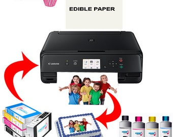 Icinginks Canon Edible Printer Bundle -Comes With Edible Printer, Edible Ink Cartridges, Edible Refill Inks, Edible Paper- Best Cake Printer