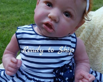 Reborn Baby Saskia by Bonnie Brown,  Ready to Ship! Rooted Hair, Magnetic Pacifier, comes with COA, Limited Edition. Comes with Box Opening!