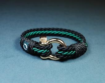 Modern Minimalist Bracelet / Green Bracelet / Nautical Bracelet / Sea Bracelet / Custom Bracelet / Bracelets For Men / Mens Jewelry / Mens