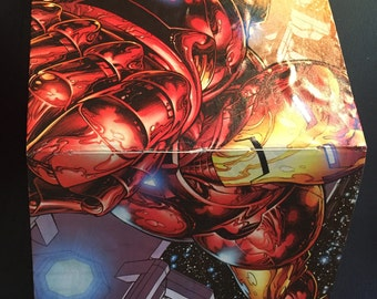 Handsewn Iron Man Upcycled Notebook