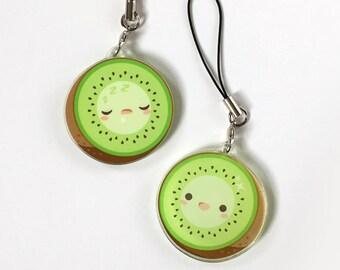 Kiwi Double Sided Cute Food Charm
