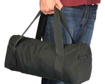 "Small 18"" Simple Curved Duffel bag with 1000 Denier Cordura Nylon (Handmade In California)"