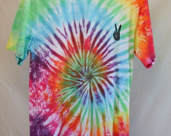 Adult Size Medium - Ready To Ship - Unisex - Festival - Pastel Tie Dyed - T-shirt - 100% Cotton - FREE SHIPPING within Aus