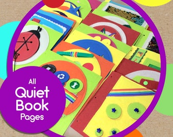 Quiet Book Pages for TinyFeats Activity Book - Individual Add-On Pages Can Be Inserted at Any Time- Best Educational Toys for Girls and Boys