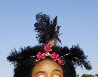 RedBull -  Feather Headpiece