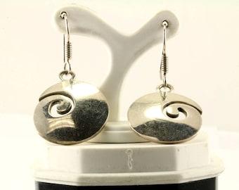 Vintage Scroll Design Drop/Dangle Earrings 925 Sterling ER 960