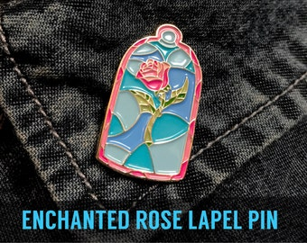 Beauty and the Beast Lapel Pin enhanted ROSE  - Belle Princess Time Enamel badge pins brooch disney boyfriend accessory gift fashion cosplay