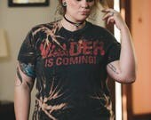 Vader Star Wars - Distressed shirt - Custom movie shirt - Reworked nerd tee - Vintage inspired -  Grunge shirt - Shredded Dreams - Large