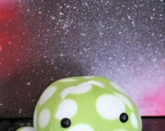 Green and White Kawaii Octopus Plushie - Stuffed