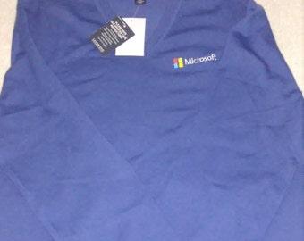 Microsoft V-neck sweater