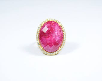ruby ring,red color ring,gold plating ring,oval shape ring,Christmas gift ,ruby zircon ring,pave ring,gemstone ring,natural stone ring