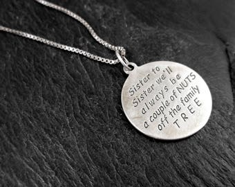 Sterling Silver Sister Necklace - Vintage