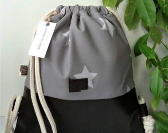 Individual children's bag backpack in leather and softshell, bag bag, gymnastic bag, backpack, gym bag