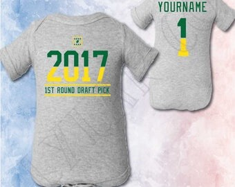 Greenbay Packers Baby Birth Announcement, Packers Football Infant Shirt, Football Baby Shower, Greenbay Fan Gift, Gender Reveal Packers