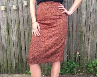 Vintage Nicole Miller Patterned Pencil Skirt