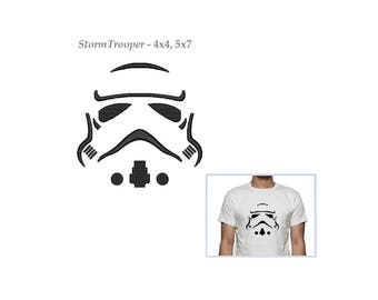 Stormtrooper Embroidery Design - 2 sizes instant download