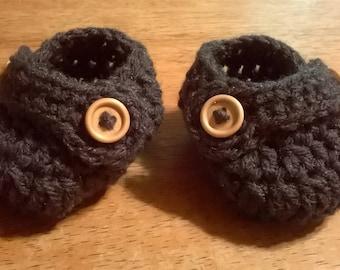 Handmade Crocheted Baby Booties
