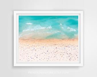 Beach Print, Coast Print, Aerial Beach, Beach Wall Art, Waves Print, Beach Photography, Tropical Print, Ocean Wall Art Print, Coastal Print