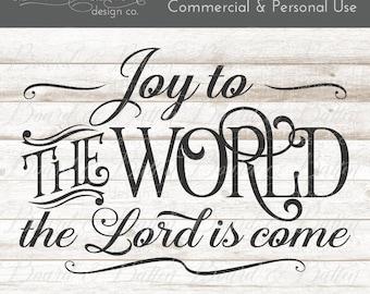 Christmas Carols Svg - Svg Christmas Files - Joy To the World Svg File - Christmas Svg Vintage - Commercial Use Cricut Cutting File, Dxf Eps