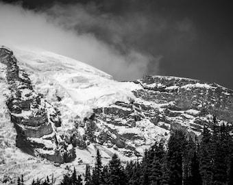 Snow Covered Mountin Peak