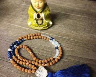 Blue Rudraksha Mala