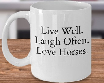 Equestrian Mug, Horse Lover Gift, Equestrian Gift, Cool Horse Gift, Horse Coffee Cup, Horse Present, Unique Horse Gift, Horse Coffee Cup