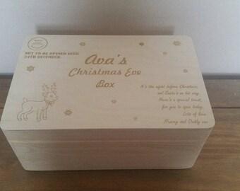 Christmas Eve box, personlised.
