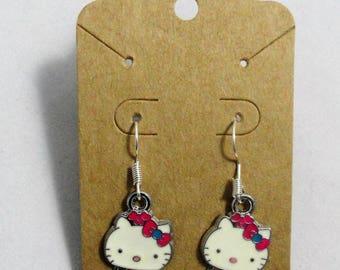 Hello Kitty in Ladybug Cosume Dangle Earrings Jewelry