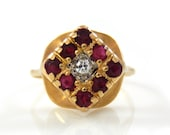 14K Ruby & Diamond Vintag...