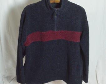 Vintage Berber fleece Half Zip  Pullover Sweater